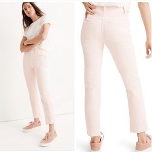 Madewell pink high waisted cropped jeans 28 29 30